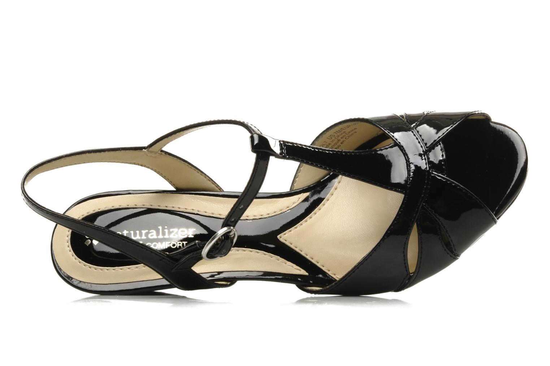 Sandales et nu-pieds Naturalizer Holt Noir vue gauche