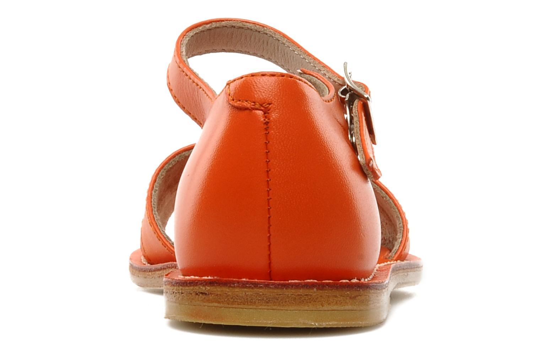 Sandales et nu-pieds start rite classics MEG Orange vue droite