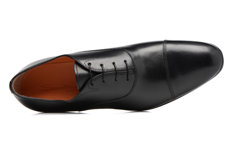 Chaussures à lacets Santoni Simon 11011 Noir vue gauche