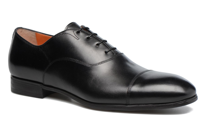 Snøresko Santoni Simon 11011 Sort detaljeret billede af skoene