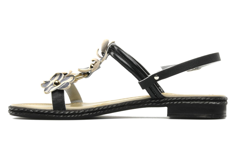 Sandalen Mustang shoes Maline schwarz ansicht von vorne