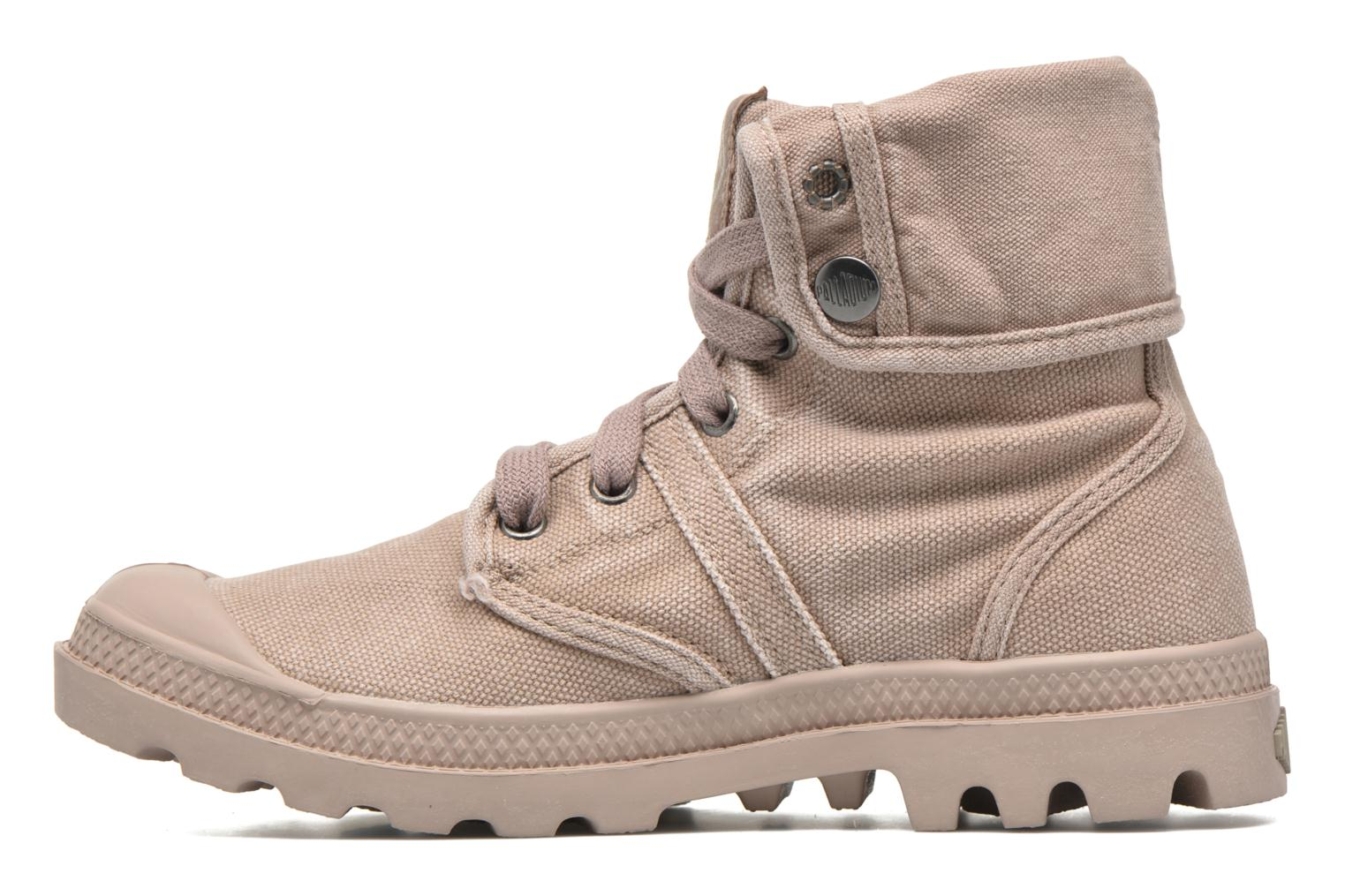 Trainers Palladium Us Baggy F Brown front view