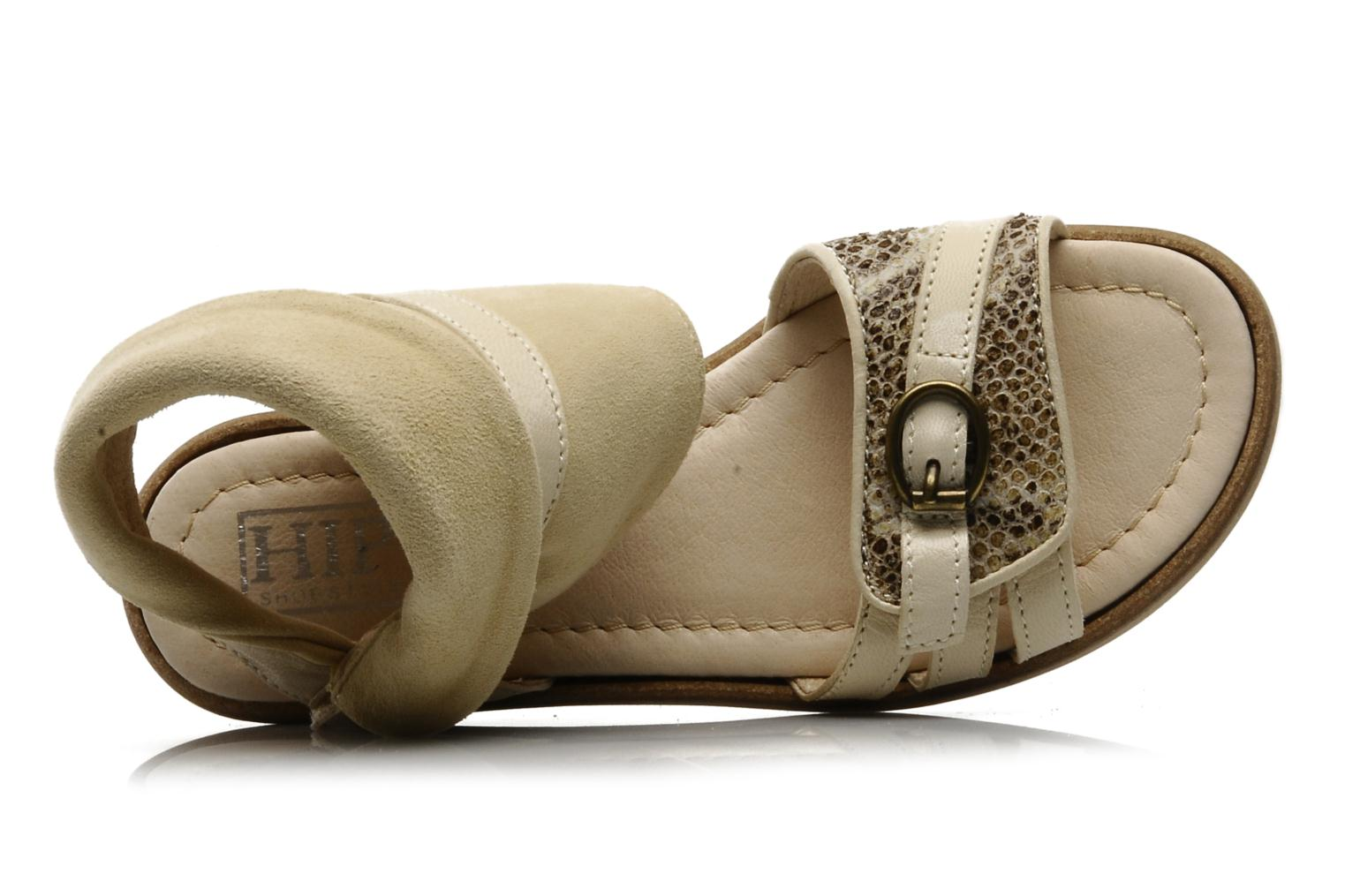 Sandals Hip Hiloa Beige view from the left
