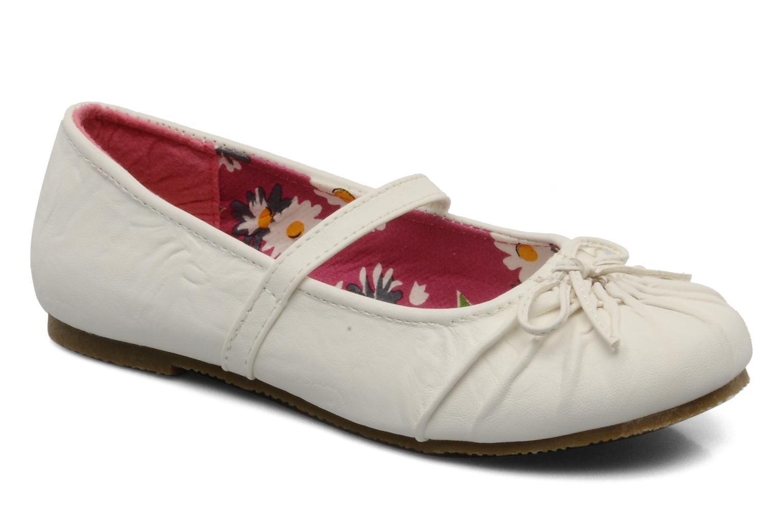 Ballerines I Love Shoes Perla Blanc vue détail/paire