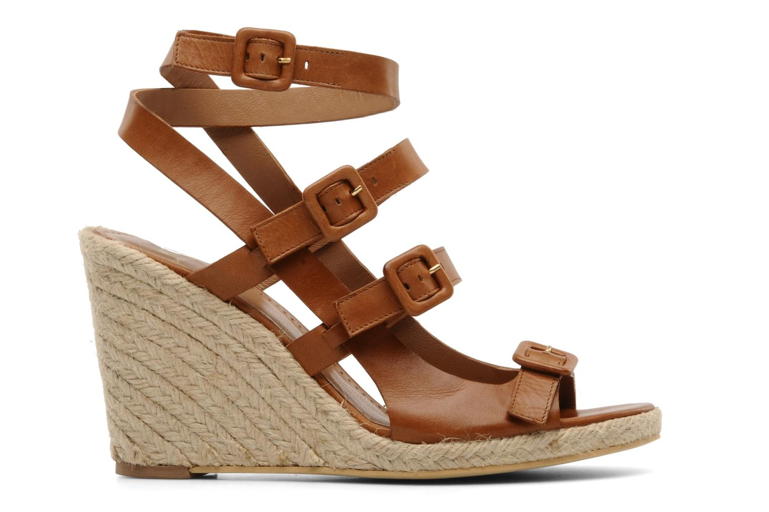 Sandalias Moschino Cheap & Chic Cevil Marrón vistra trasera