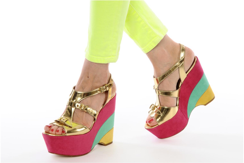Sandales et nu-pieds Moschino Cheap & Chic Cepale Multicolore vue bas / vue portée sac