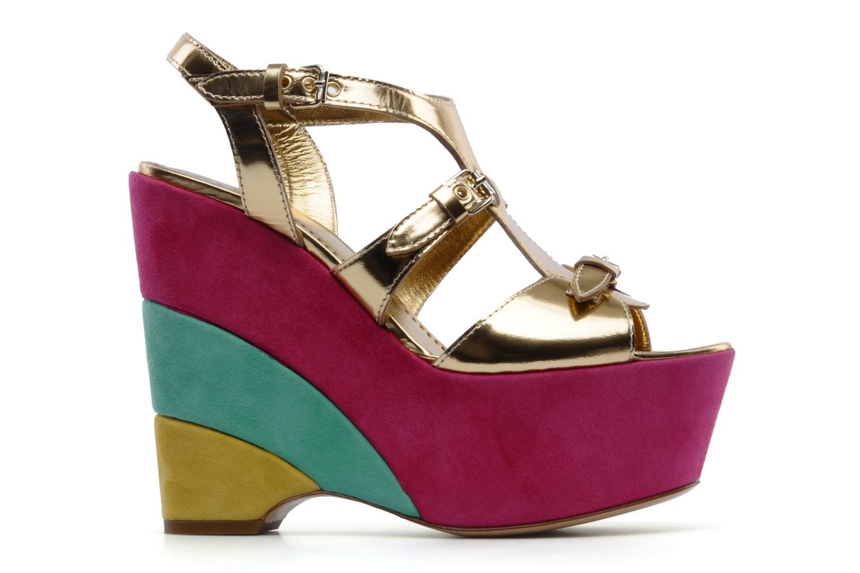 Sandales et nu-pieds Moschino Cheap & Chic Cepale Multicolore vue derrière