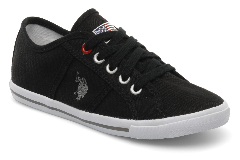 Sneakers U.S Polo Assn. Bange Zwart detail