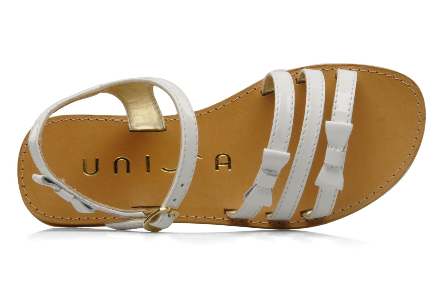 Sandals Unisa Yastin White view from the left