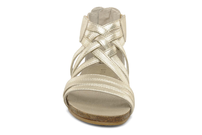 Sandalen Unisa Milano silber schuhe getragen