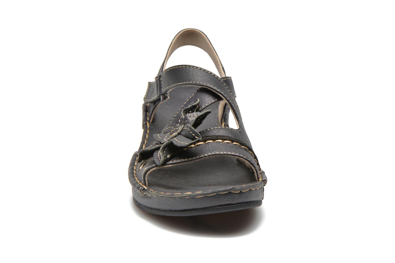 Sandales et nu-pieds TBS Boreal Noir vue portées chaussures