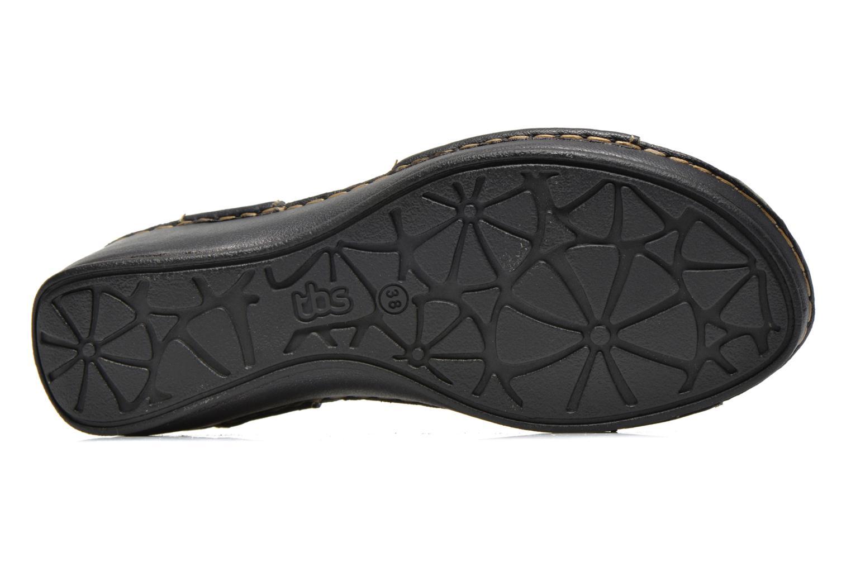 Sandales et nu-pieds TBS Boreal Noir vue haut