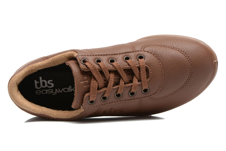 Sneaker TBS Easy Walk Brandy braun ansicht von links