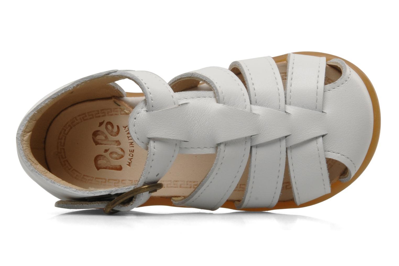 Sandales et nu-pieds PèPè Bongo Blanc vue gauche
