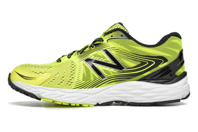 Chaussures de sport New Balance M680 Jaune vue face