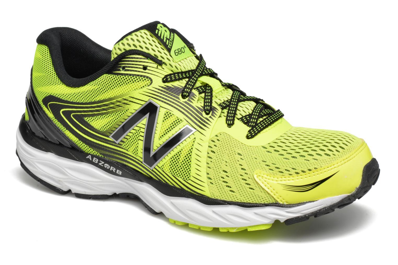 Chaussures de sport New Balance M680 Jaune vue détail/paire