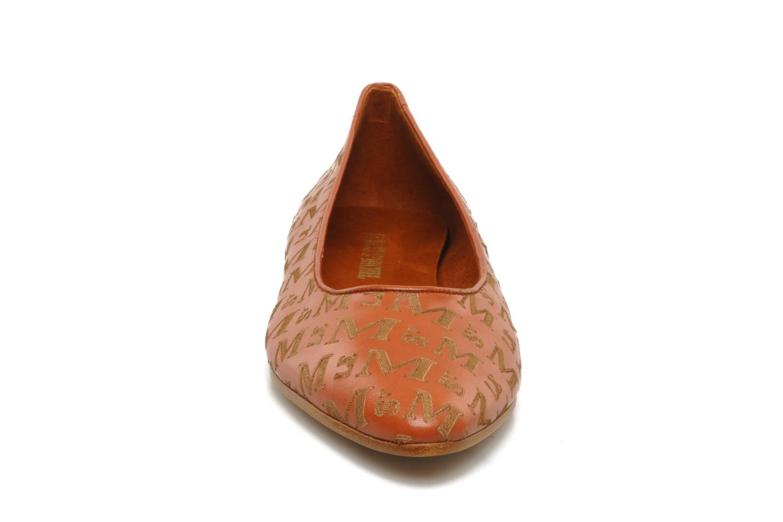 Ballerines Le Mont St Michel Mismo Marron vue portées chaussures