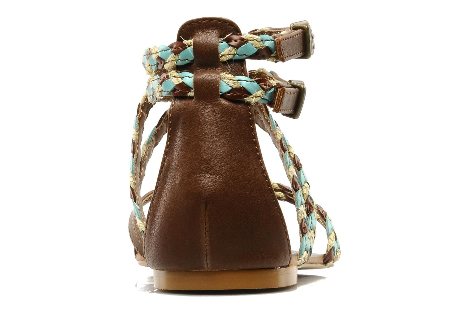 Sandals Chocolate Schubar Aja Brown view from the right