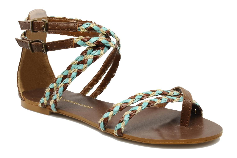 Sandals Chocolate Schubar Aja Brown detailed view/ Pair view