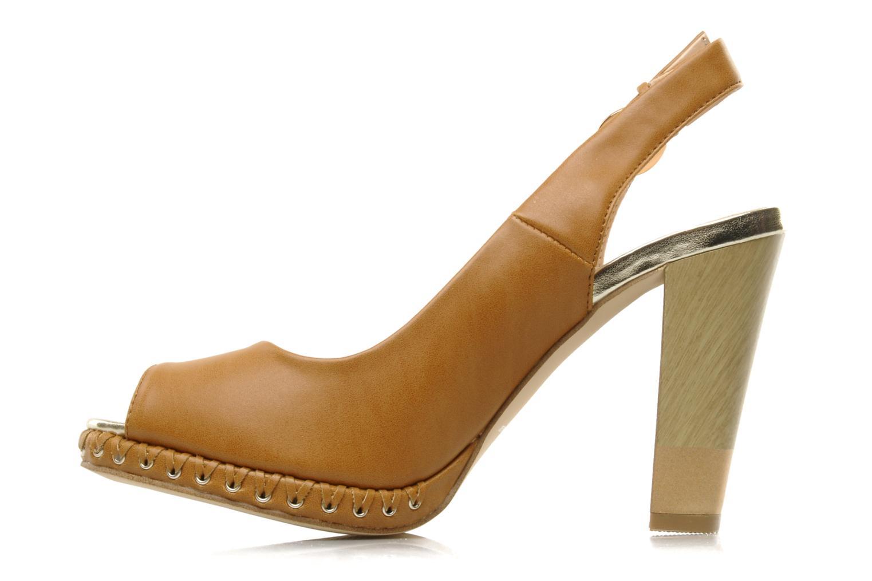 Sandales et nu-pieds Chocolate Schubar Celeste Beige vue face