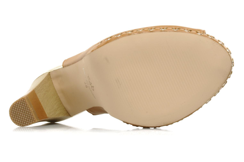 Sandales et nu-pieds Chocolate Schubar Celeste Beige vue haut