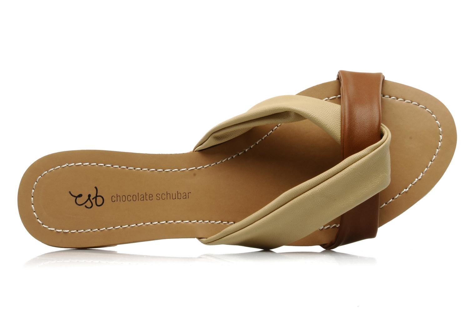 Mules & clogs Chocolate Schubar Abby Beige view from the left