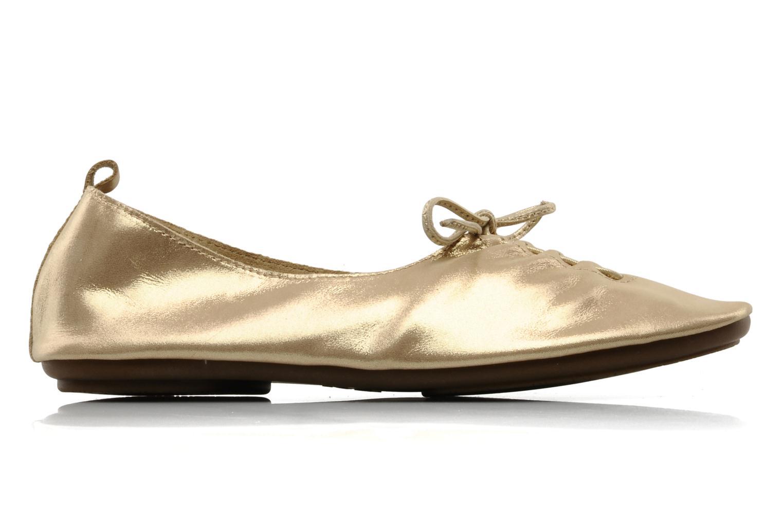 Ballet pumps Chocolate Schubar Daniel Bronze and Gold back view