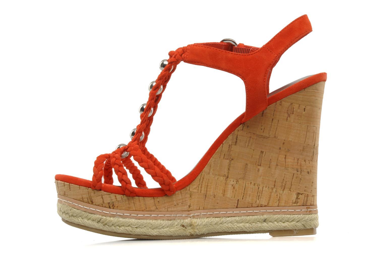 Sandales et nu-pieds Guess Reign Orange vue face
