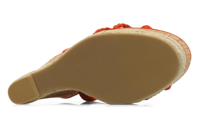 Sandales et nu-pieds Guess Reign Orange vue haut