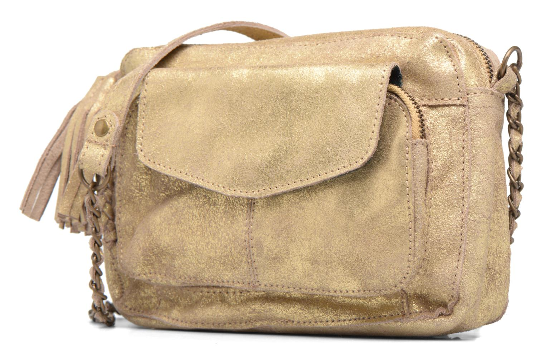 Sacs à main Pieces Naina Leather Crossover Or et bronze vue portées chaussures