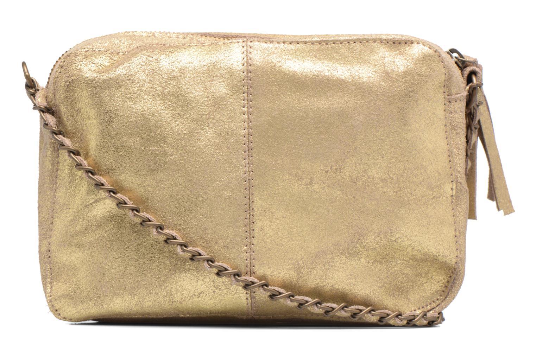 Bolsos de mano Pieces Naina Leather Crossover Oro y bronce vista de frente