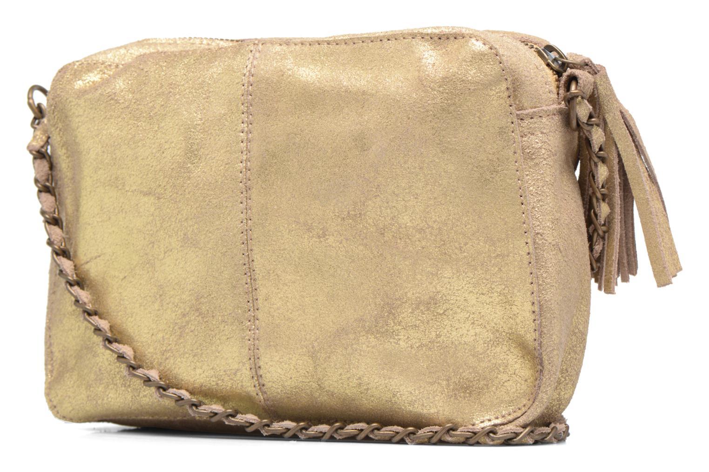 Bolsos de mano Pieces Naina Leather Crossover Oro y bronce vista lateral derecha