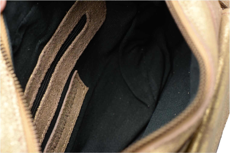Bolsos de mano Pieces Naina Leather Crossover Oro y bronce vistra trasera