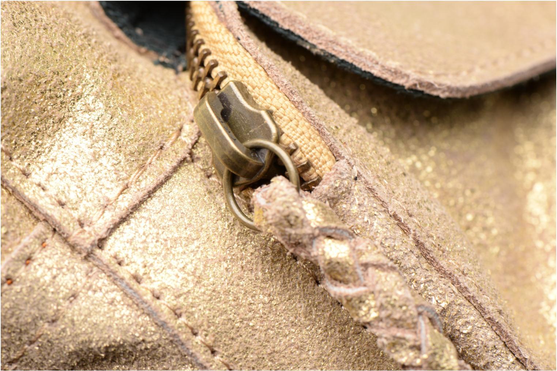 Bolsos de mano Pieces Naina Leather Crossover Oro y bronce vista lateral izquierda
