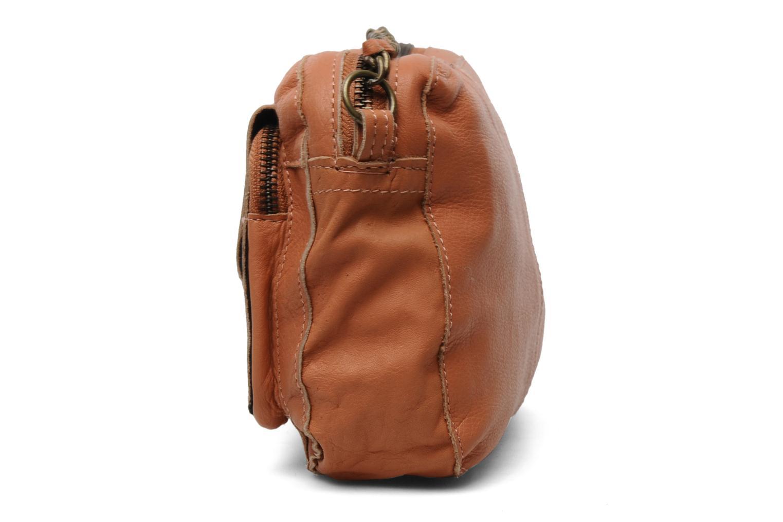 Sacs pochettes Pieces Naina Leather Crossover Orange vue portées chaussures
