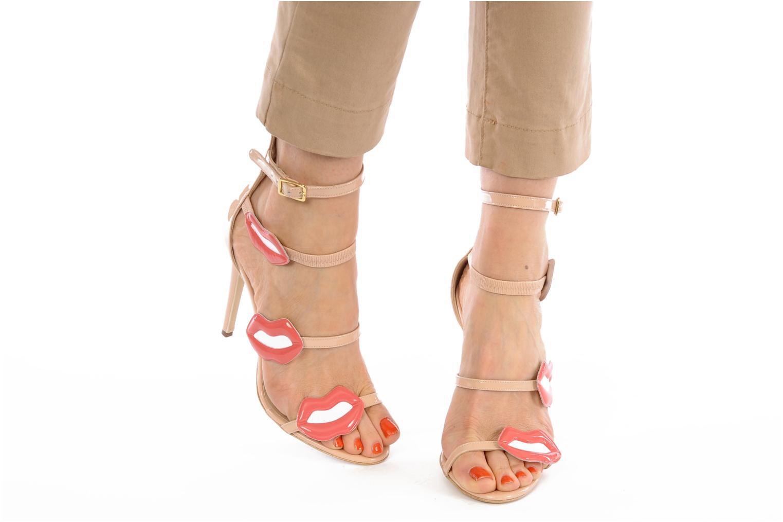 Sandales et nu-pieds Paul & Betty PrettyLips bis Beige vue bas / vue portée sac
