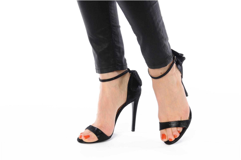Sandales et nu-pieds Paul & Betty Better Noir vue bas / vue portée sac