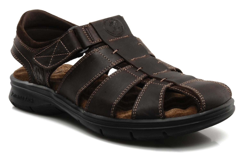 Sandales et nu-pieds Panama Jack Sherpa Marron vue détail/paire