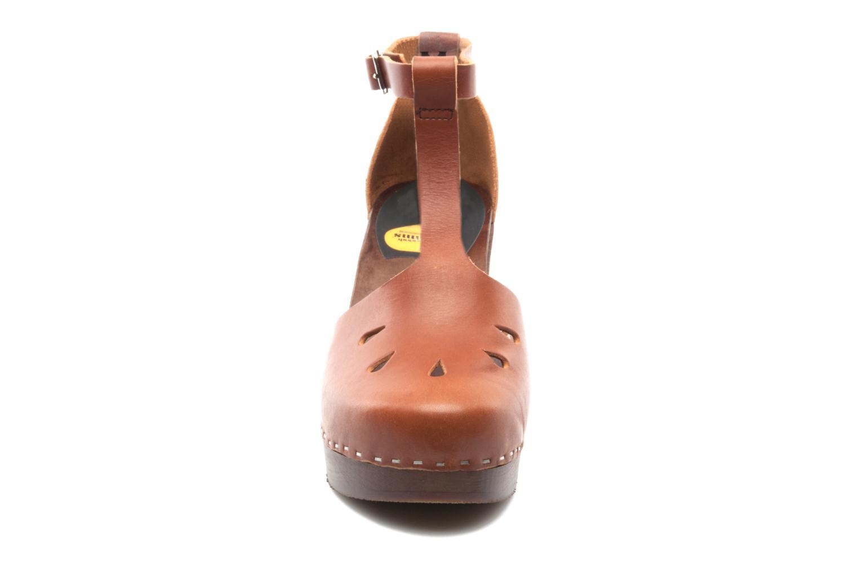 Mules & clogs Swedish Hasbeens T Bar Sandal Brown model view