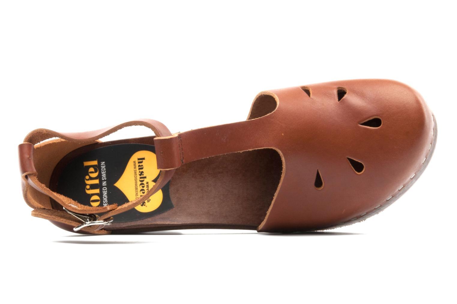 Mules & clogs Swedish Hasbeens T Bar Sandal Brown view from the left