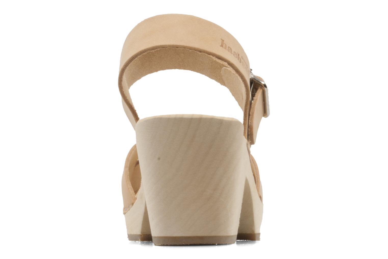 Sandales et nu-pieds Swedish Hasbeens Peep Toe High Colours Beige vue droite