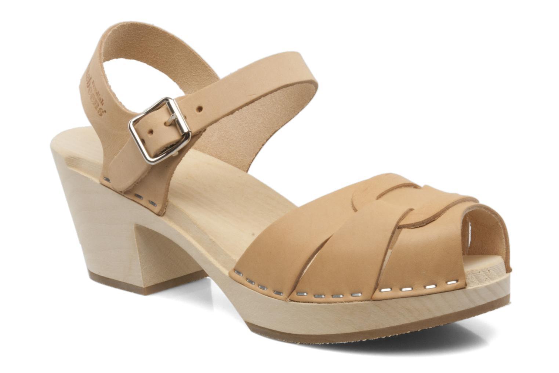 Sandales et nu-pieds Swedish Hasbeens Peep Toe High Colours Beige vue détail/paire