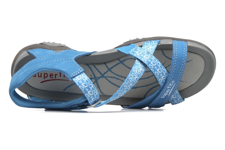 Sandales et nu-pieds Superfit Nancy Bleu vue gauche