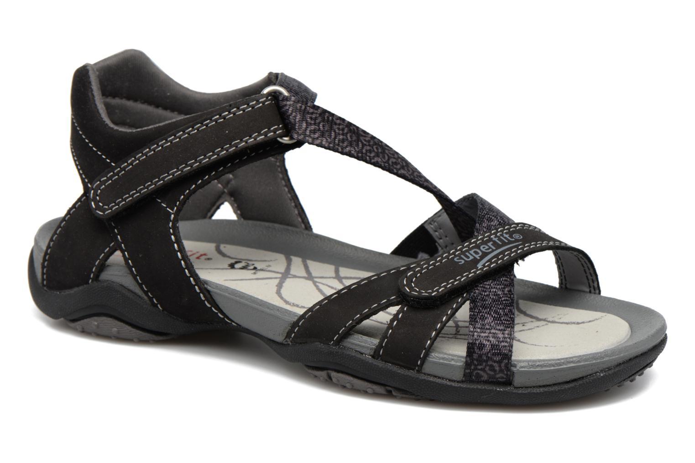 Sandals Superfit Nancy Black detailed view/ Pair view