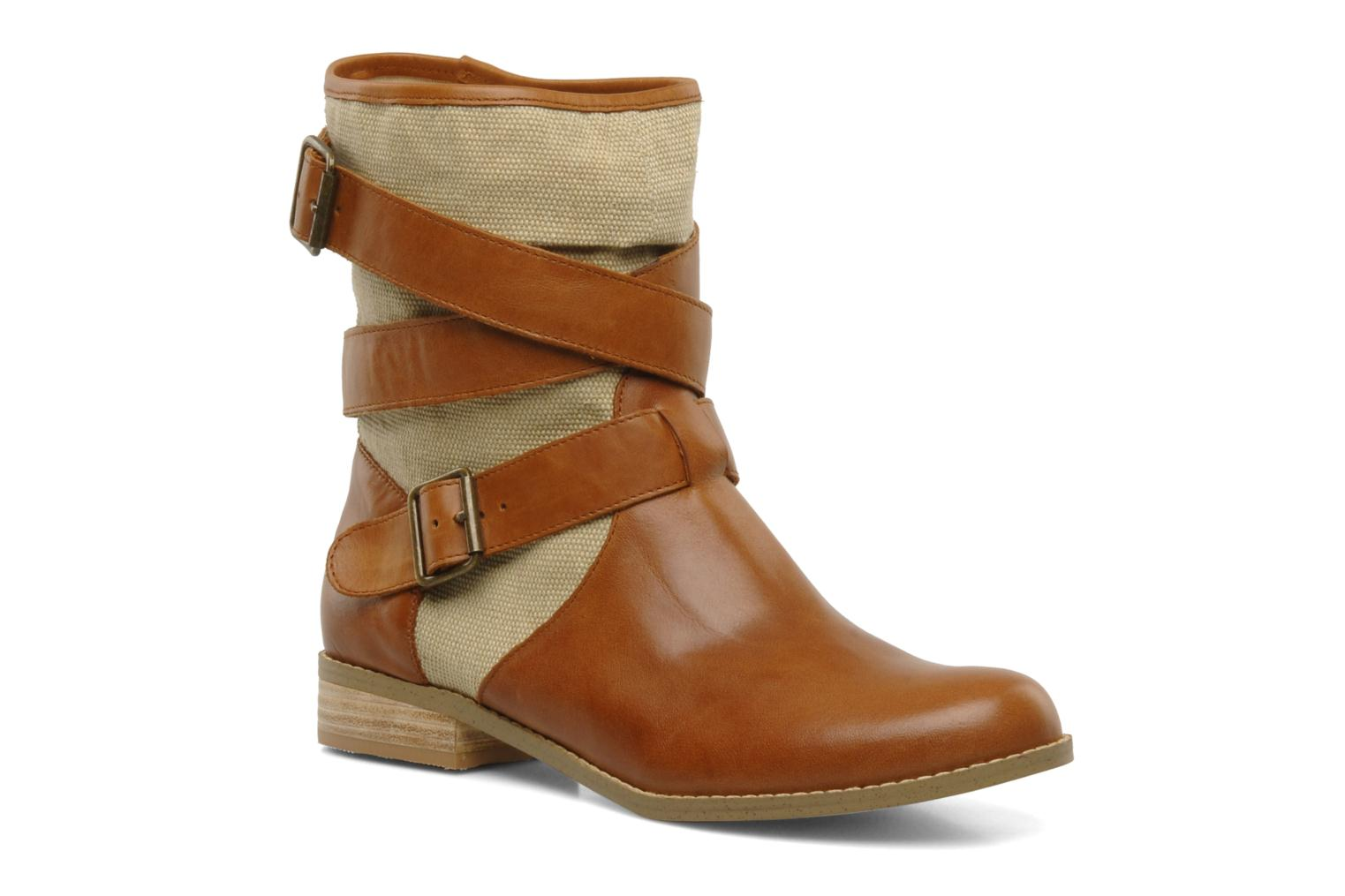 Ankle boots Mellow Yellow Badilla Brown detailed view/ Pair view