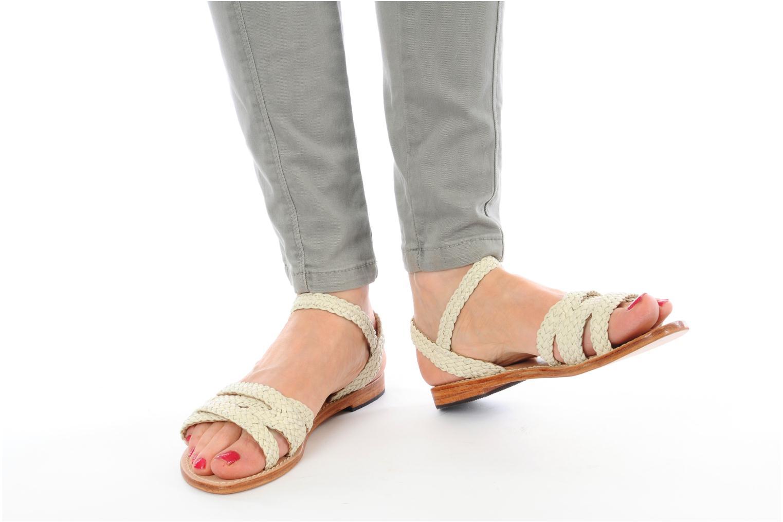 Sandales et nu-pieds Mellow Yellow Langlette Beige vue bas / vue portée sac