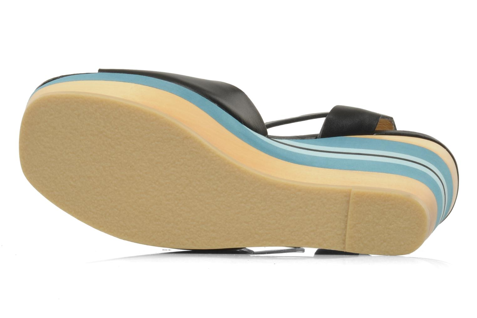 Sandals Mellow Yellow Lap Black view from above