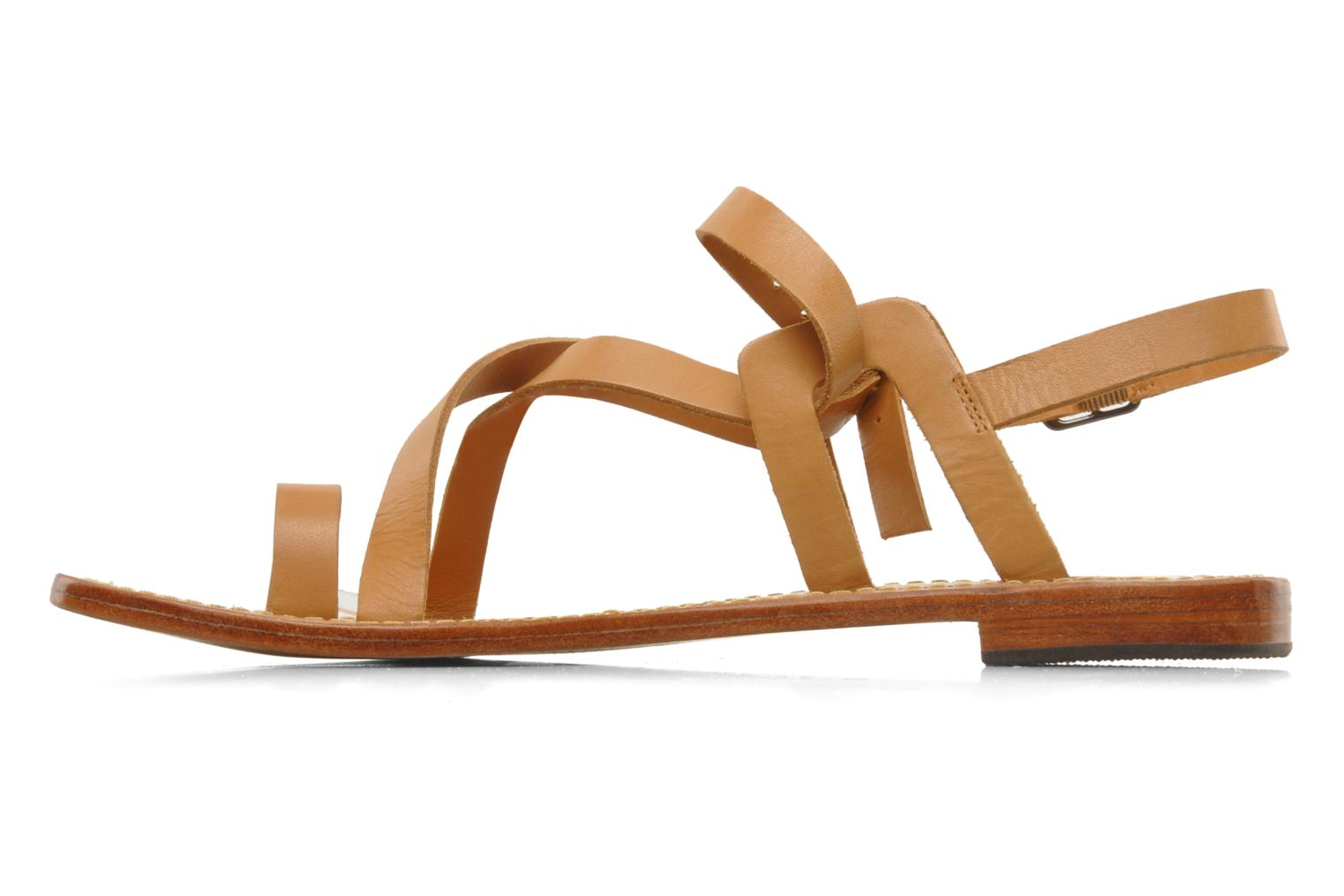 Sandals Mellow Yellow Lemporio Brown front view