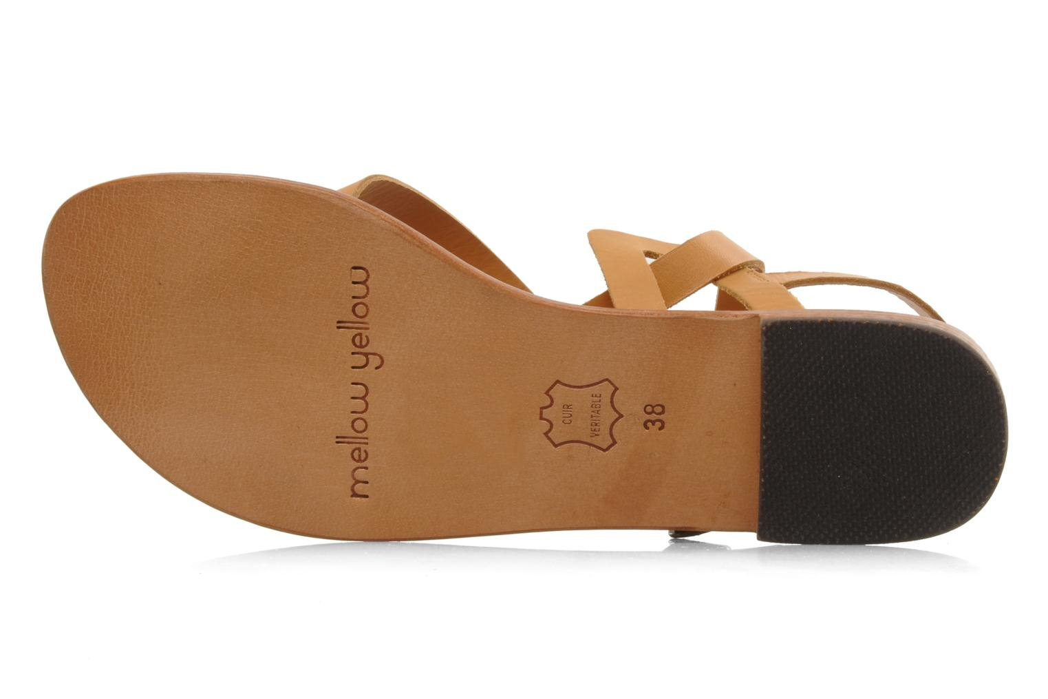 Sandals Mellow Yellow Lemporio Brown view from above