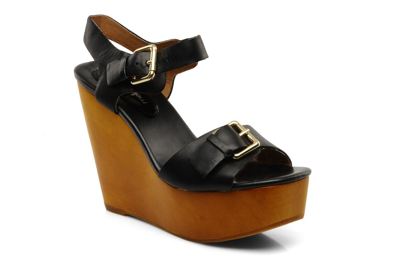Sandales et nu-pieds Mellow Yellow Lupper Noir vue détail/paire
